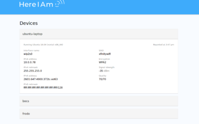 HereIAm: Keeping tabs on headless devices